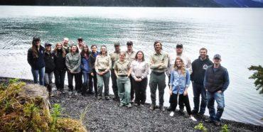 Stream Watch Team by Kenai Lake